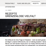 Screenshot Weber Grill Rezepte